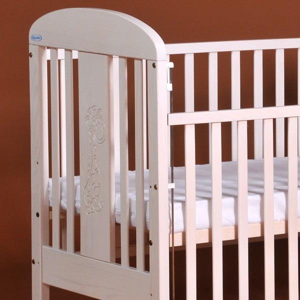 Łóżeczko dziecięce ze zdejmowanymi bokami Olina, białe transparentne