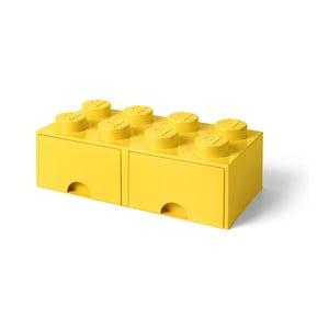 Żółty pojemnik z 2 szufladami LEGO®