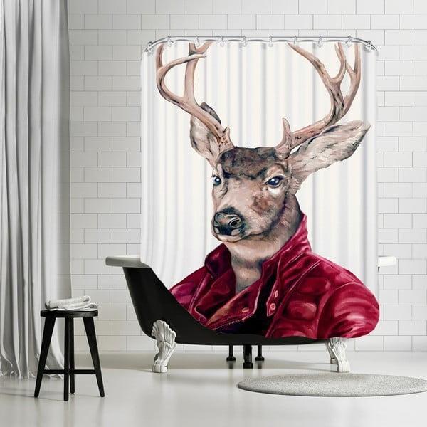 Zasłona prysznicowa Deer, 180x180 cm