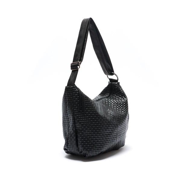 Skórzana torebka Mangotti 8036, czarna