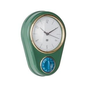 Ciemnozielony zegar ścienny z minutnikiem PT LIVING