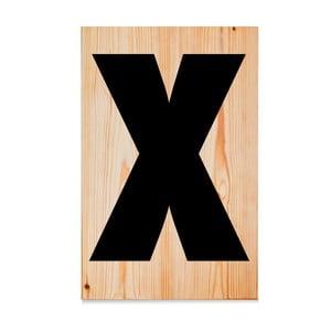 Drewniana tabliczka Letters X