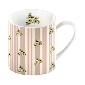 Różowy kubek porcelanowy w paski Creative Tops Cottage Flower, 330ml