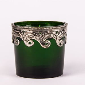 Świecznik na podgrzewacz Green Glass