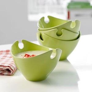 Zestaw czterech misek porcelanowych Steel Function Milano Green