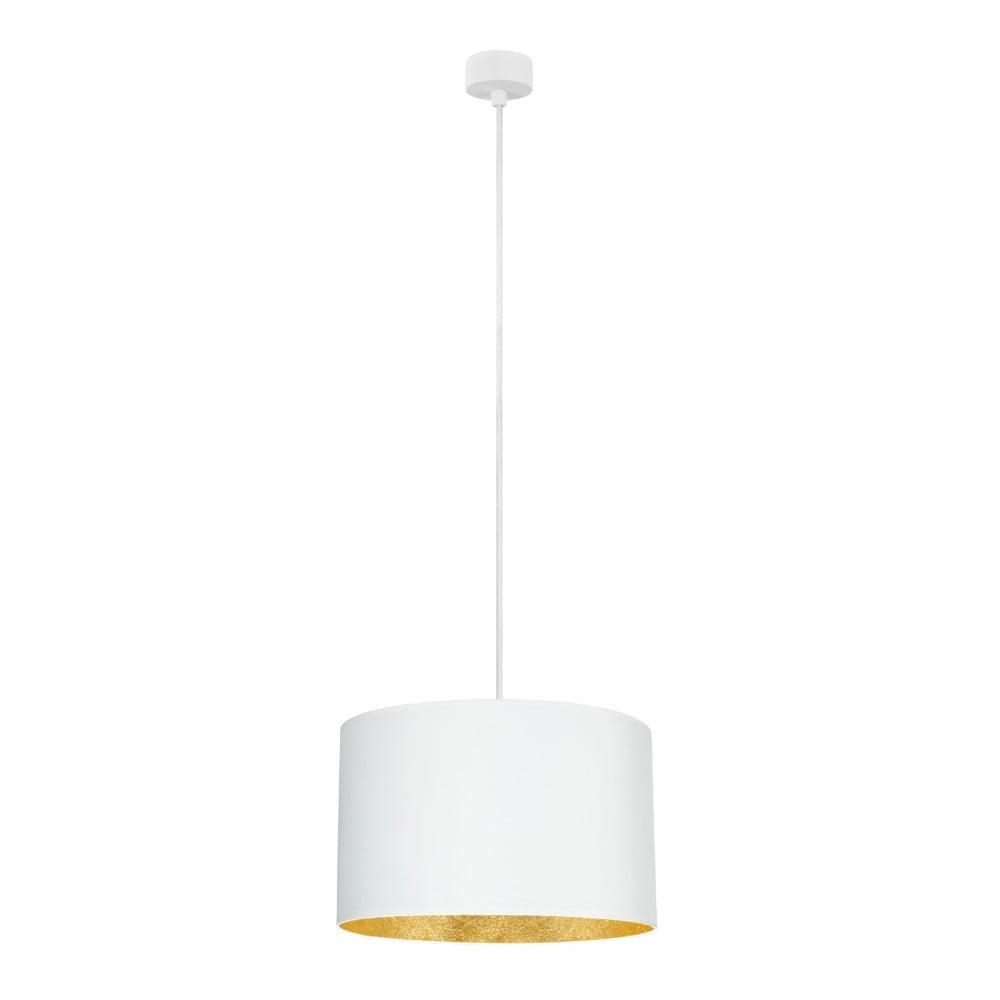 Biała lampa wisząca z wnętrzem w złotym kolorze Sotto Luce Mika, ∅36cm