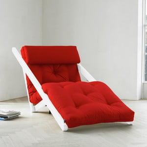 Szezlong Karup Figo, White/Red, 70 cm