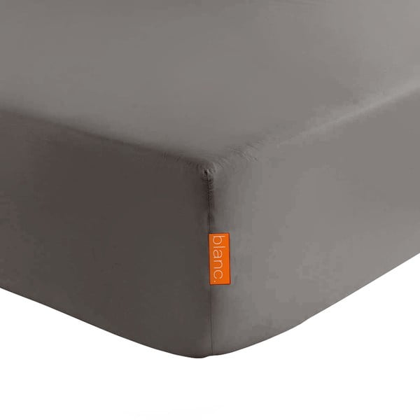 Ciemnoszare elastyczne prześcieradło HF Living Basic, 180x200 cm
