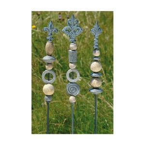 Zestaw 3 dekoracji ogrodowych Stone