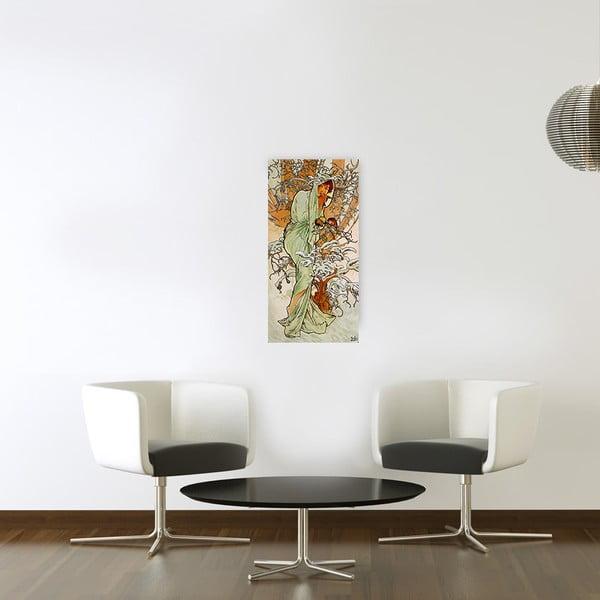 Obraz Alfons Mucha - Zima, 30x60 cm