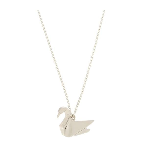 Naszyjnik Swan origami
