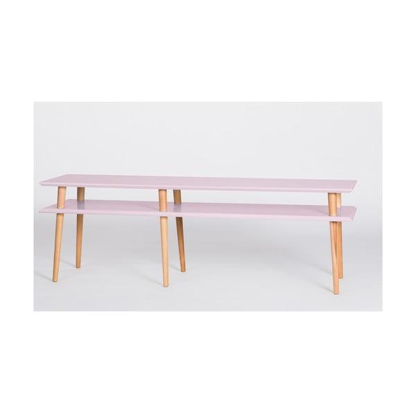 Różowy stolik Ragaba Mugo, dł. 159 cm