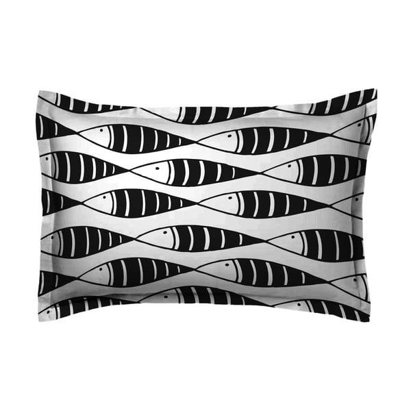 Poszewka na poduszkę Hipster Black Fish, 50x70 cm