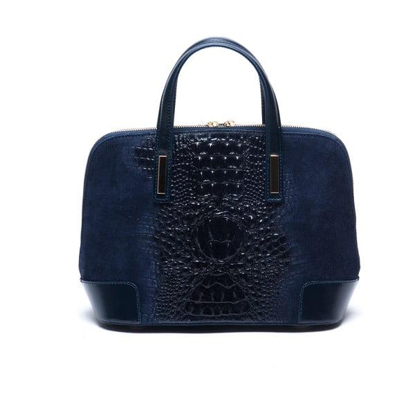 Niebieska skórzana torebka Mangotti Jasminum