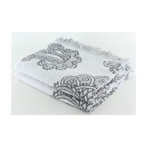 Komplet 2 ręczników Grey Floral, 70x140 cm
