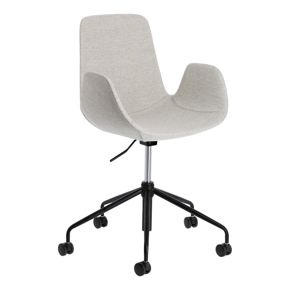 Jasnoszare krzesło biurowe La Forma Yasmin