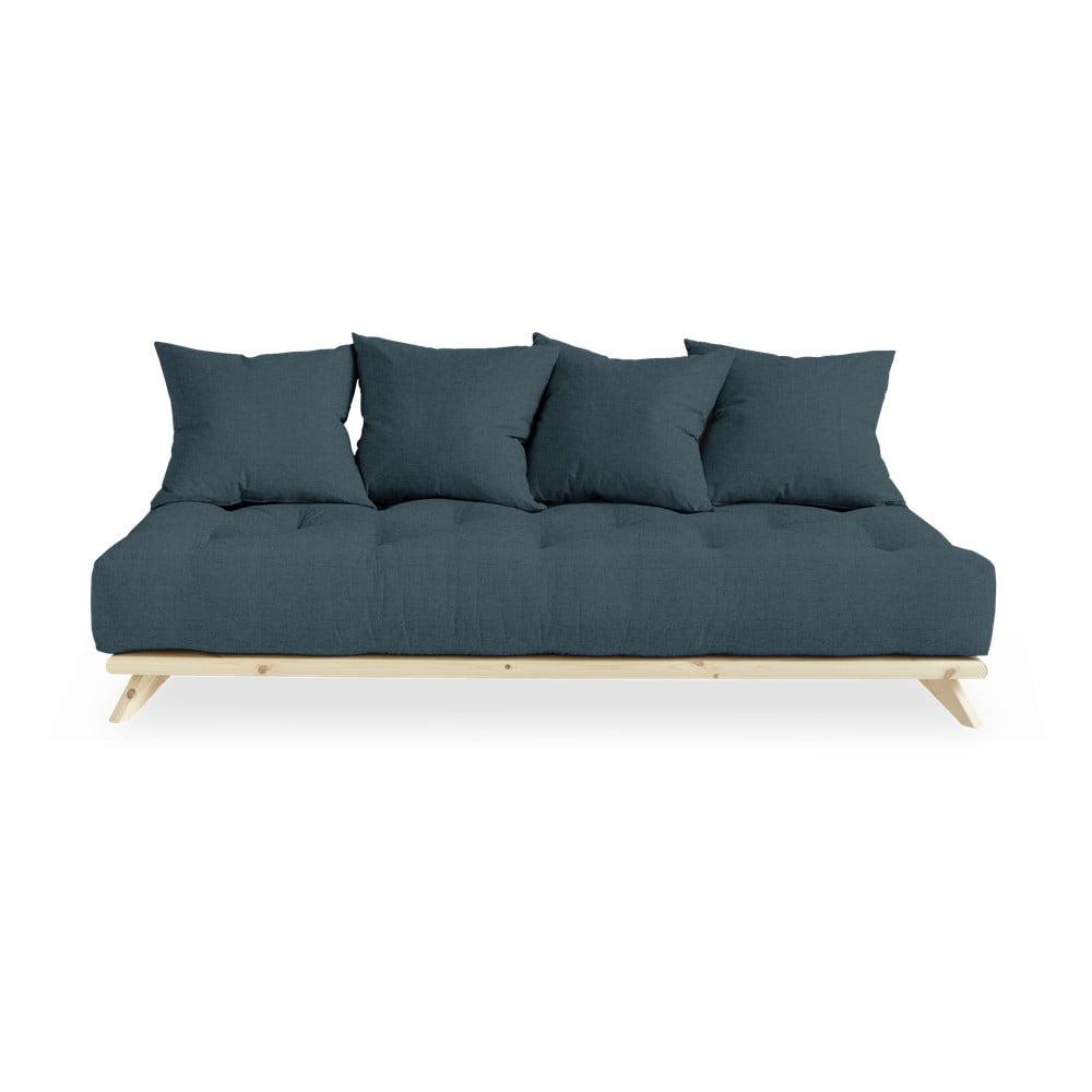 Sofa z ciemnoniebieskim obiciem Karup Design Senza Natural/Deep Blue