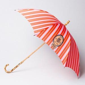 Parasol Alvarez Stripe Orange Pink Illustration