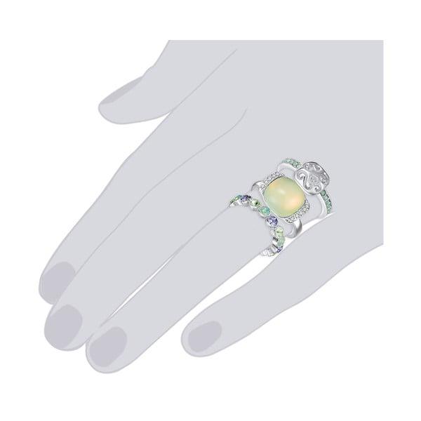 Zestaw 3 pierścionków z kryształami Swarovski Lilly & Chloe Océane, rozm. 56