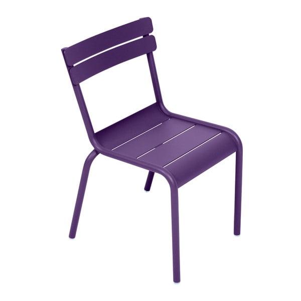 Fioletowe krzesło dziecięce Fermob Luxembourg