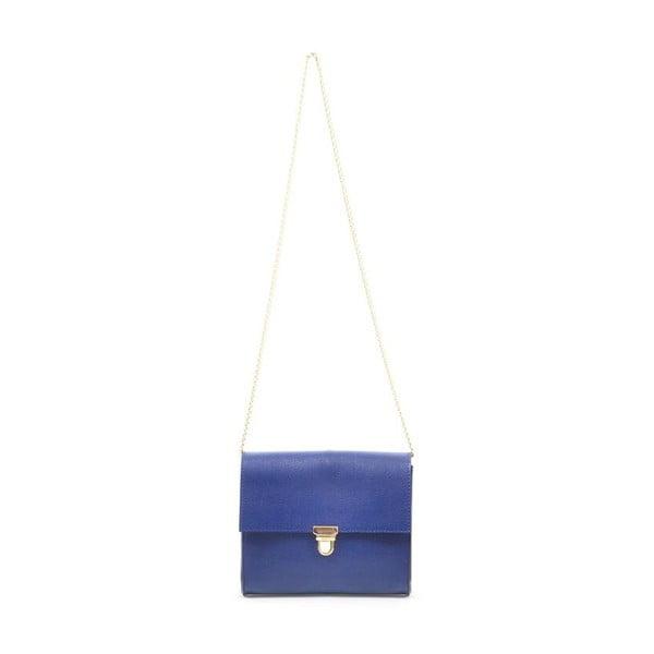Skórzana torebka Jennifer, niebieska