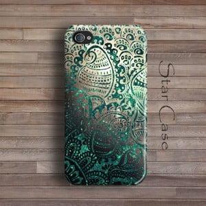 Etui na iPhone 4/4S Green Glitter