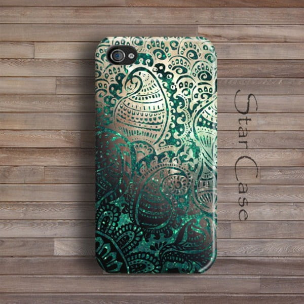 Etui na iPhone 5/5S Green Glitter