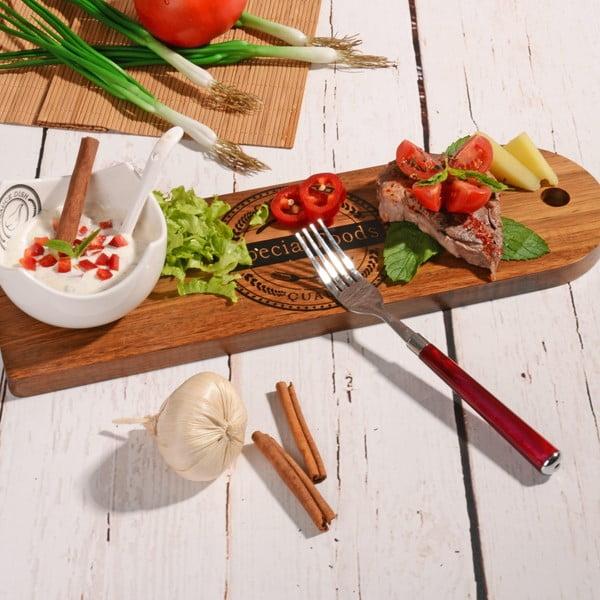 Bambusowa deska do serwowania z miską Dippy