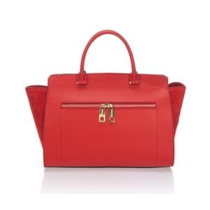 Skórzana torebka Krole Kristina, czerwona