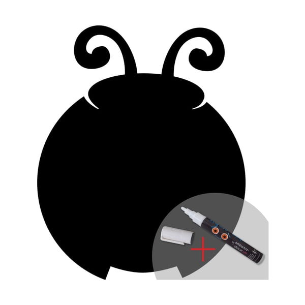 Tablica samoprzylepna z flamastrem Fanastick Ladybird