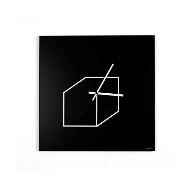 Zegar ścienny dESIGNoBJECT.it Cube,50x50cm