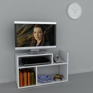 Stolik telewizyjny Carica White, 29,5x90x54 cm