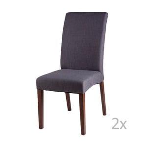 Zestaw 2 ciemnoszarych krzeseł sømcasa Elsa