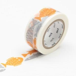 Taśma klejąca Washi Orange Fish
