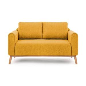 Musztardowa sofa 2-osobowa Vivonita Milton