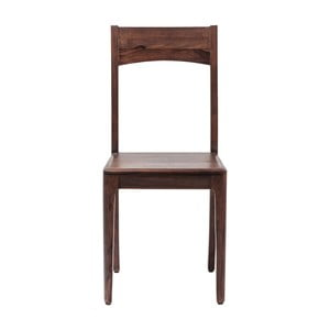 Brązowe krzesło drewniane Kare Design Brooklyn