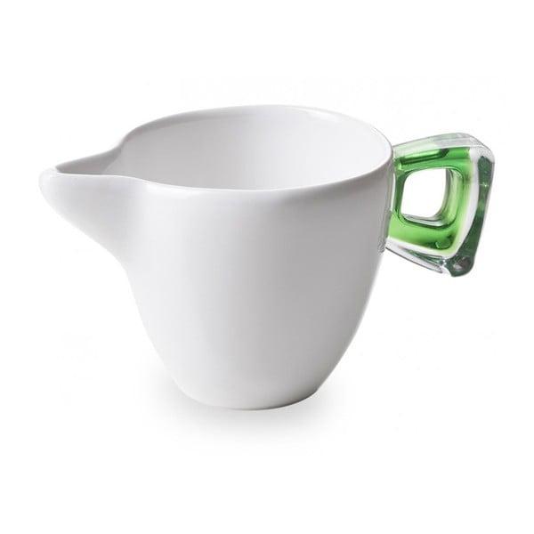 Dzbanuszek do mleka z zielonym uchem