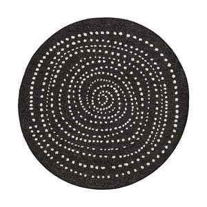 Czarny okrągły dywan dwustronny Bougari Bali, Ø 140 cm