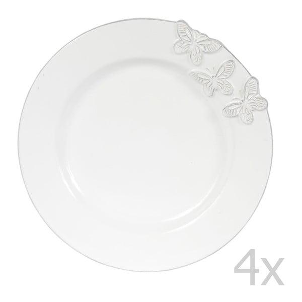 Zestaw 4 talerzy deserowych Candice, 23 cm