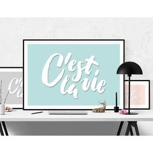 Plakat C'est La Vie Blue, A3