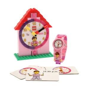 Różowy zegarek i tablica edukacyjna LEGO® Time Teacher