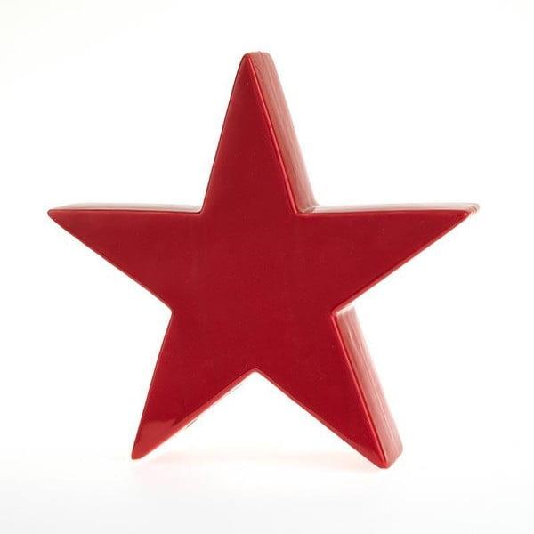 Świecznik  Star Deco Red, 24x23 cm