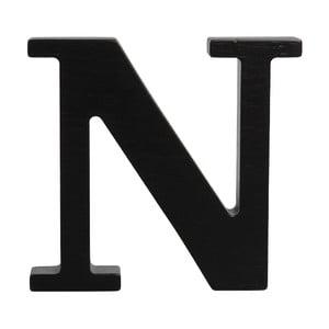 Czarna drewniana litera Typoland N