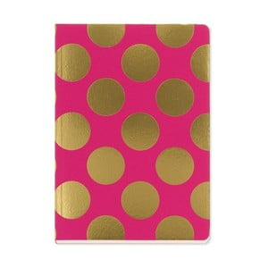 Notes A5 Go Stationery Gold Polka Magenta