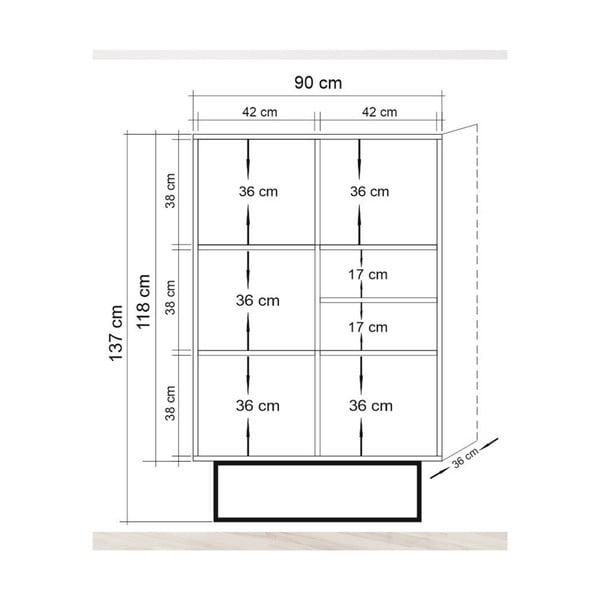 Komoda Sacide, wys. 137 cm