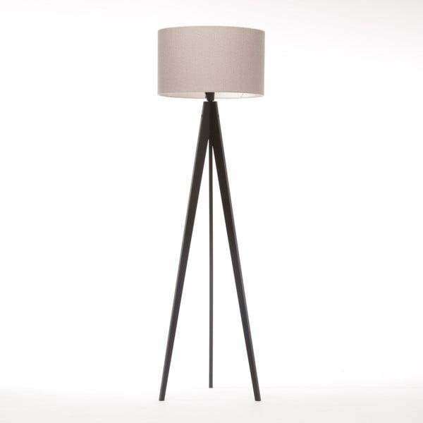 Lampa stojąca Artist Brown Grey Felt/Black Birch, 125x42 cm