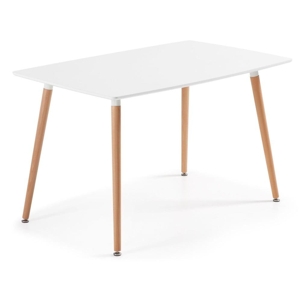 Stół do jadalni z drewna bukowego La Forma Daw, 80 x140 cm