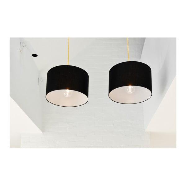 Wisząca lampa Tres XL, czarna/czarna