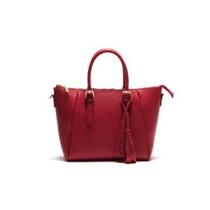 Skórzana torebka Anna Luchini 1169 Rosso