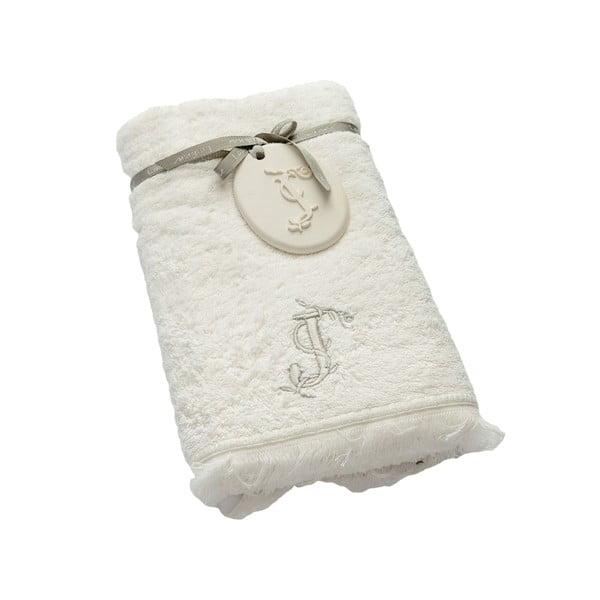 Ręcznik z inicjałem J, 50x90 cm